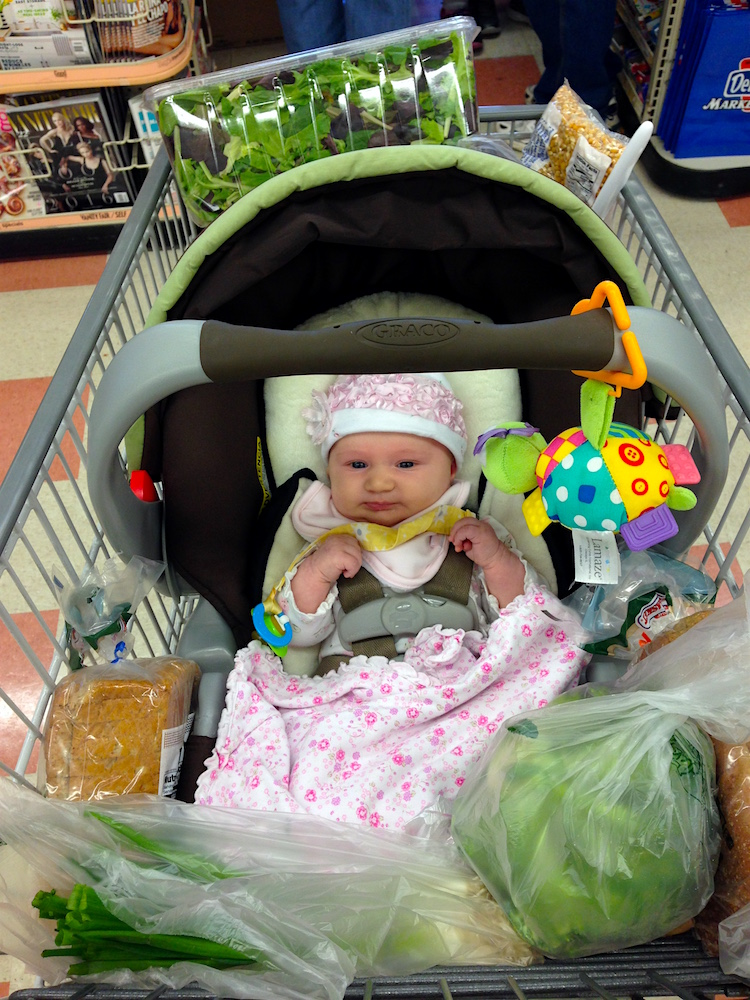 Babywoods at the grocery store