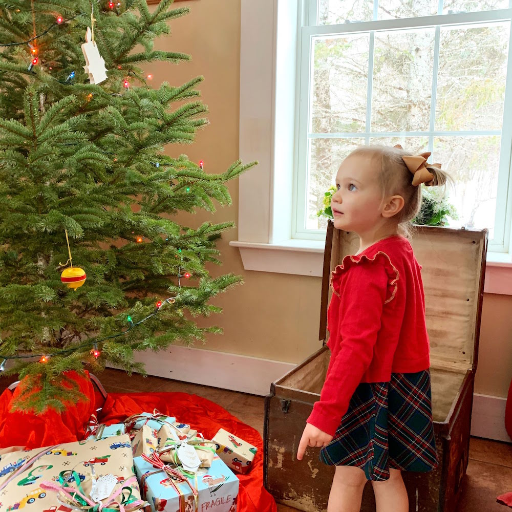 0badf1612836f Kidwoods helping her adopted grandma (our awesome neighbor) decorate their  tree