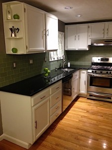 The Frugalwoods Kitchen (we refinished the cabinets ourselves!)