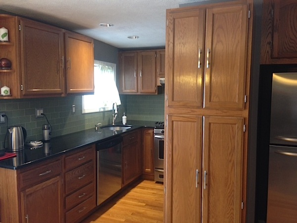 How To Refinish Kitchen Cabinets Part Frugalwoods - Refinishing kitchen cabinets before and after