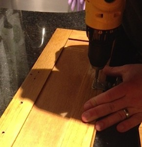 Remove hardware with a screwdriver or drill