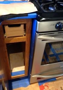 Tape appliances carefully to avoid paint splatter
