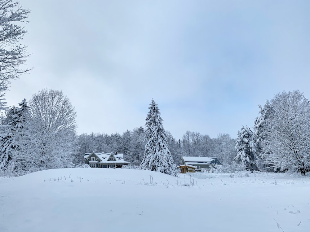 This Month On The Homestead: Snow, Power, and Celebrations - Frugalwoods