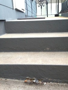 Concrete steps getting the crumbles
