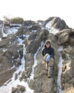 Me at the Mary's Rock summit in winter (VA)