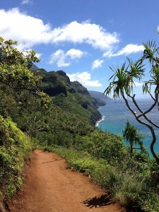 We hiked the Na Pali Coast in Kauai (HI)