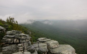 View from our hike up Tibbet Knob (VA)