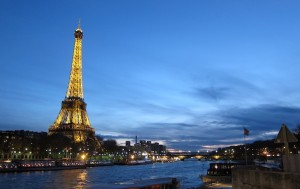 Glorious view of the Eiffel Tower from our trip to Paris