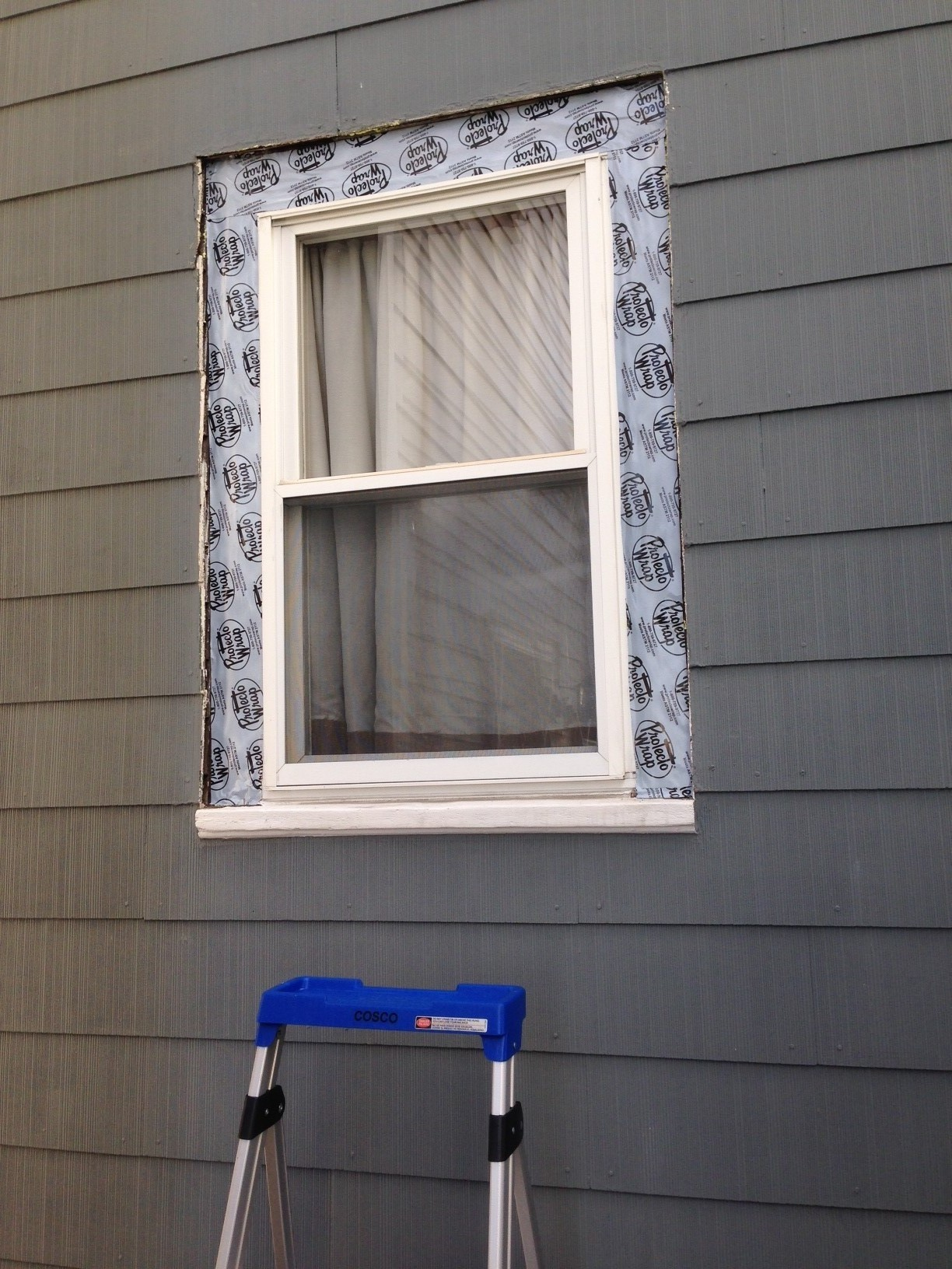 How to replace exterior window trim frugalwoods for Picture window replacement ideas