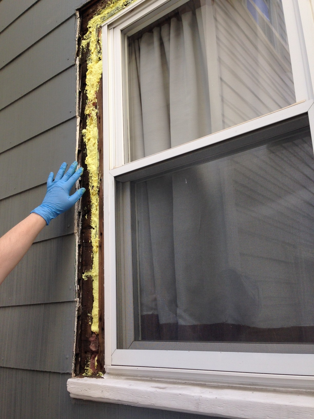 How to replace exterior window trim frugalwoods for Diy window replacement