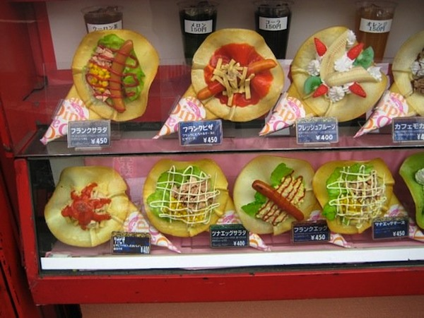 Actual food display Mr. FW saw while in Kyoto, Japan