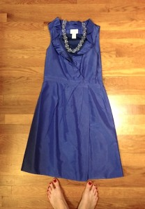 One of my best thrift finds: my $20 JCrew dress that I've worn to 3 weddings!