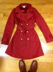LOVE this coat. Banana Republic, brand-new, tags still on for $30 at a thrift store.