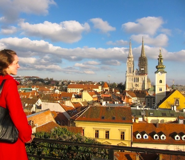 Me looking at Zagreb, Croatia