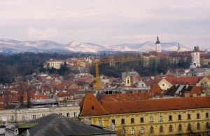 View of Zagreb, Croatia from our hotel room