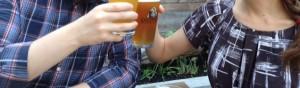 Mr. & Mrs. FW drink some beer