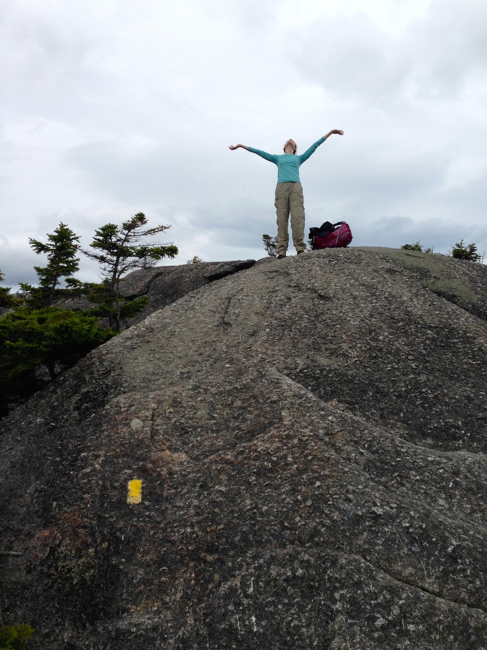 Me rocking it on a mountaintop (not wearing make-up)