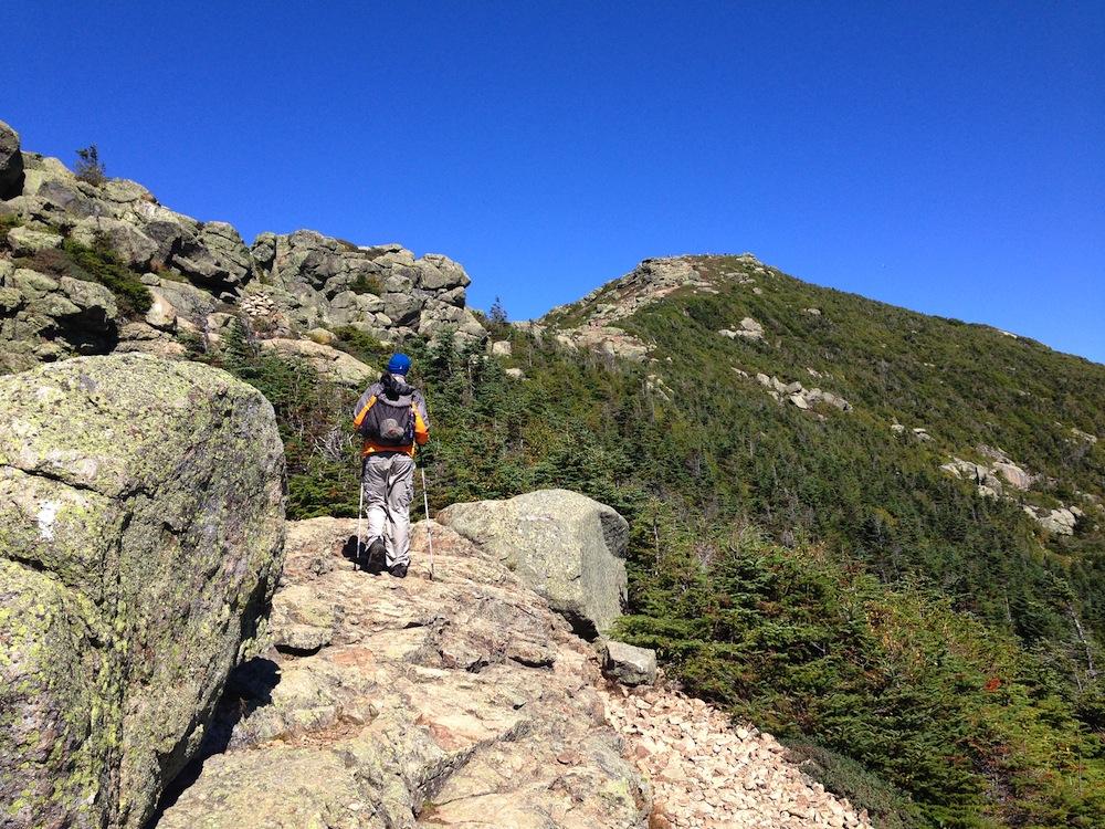 Mr. FW climbing towards Mt. Lafayette