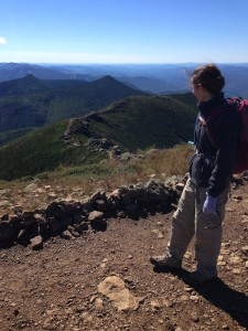 Mrs. FW on the Franconia Ridge summit