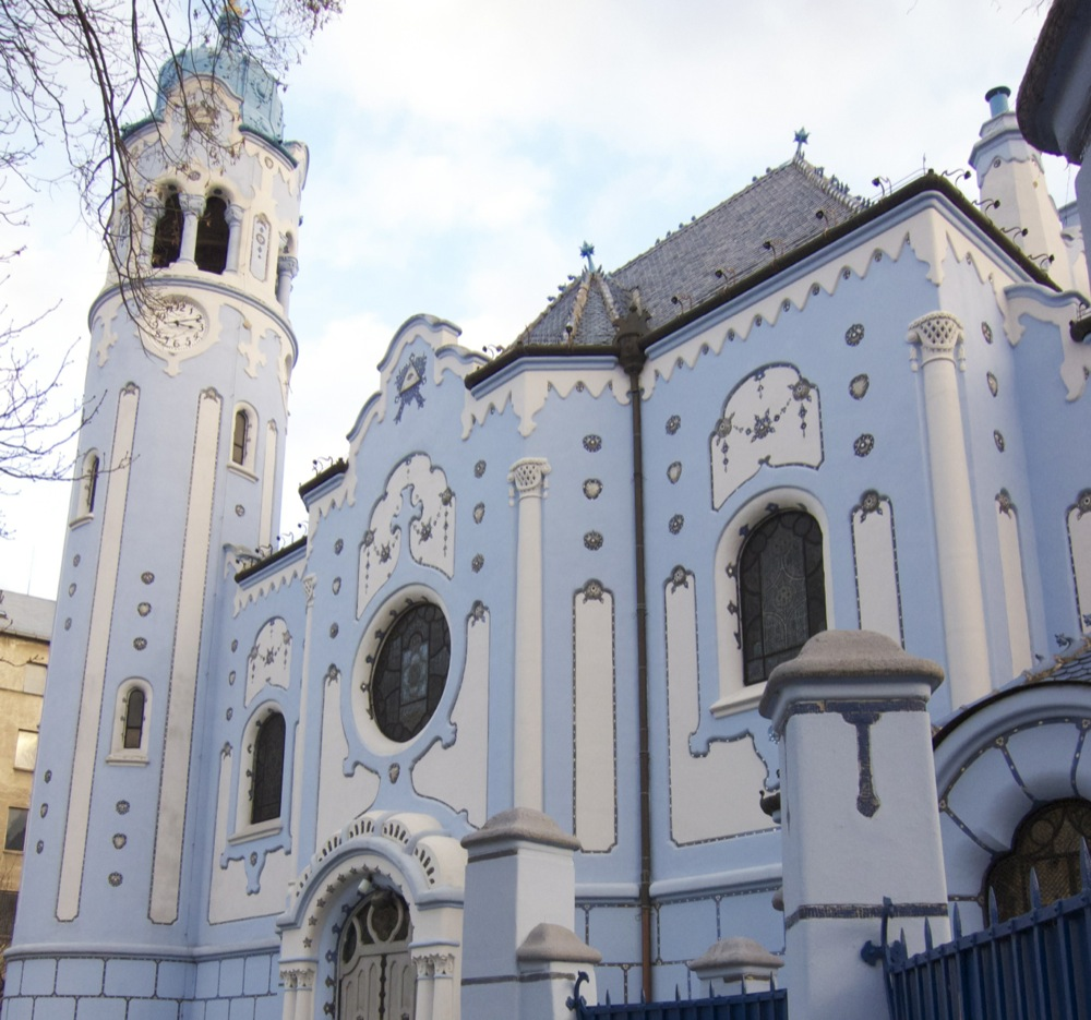"St. Elizabeth's Church (aka ""The Blue Church"") in Bratislava, Slovakia."