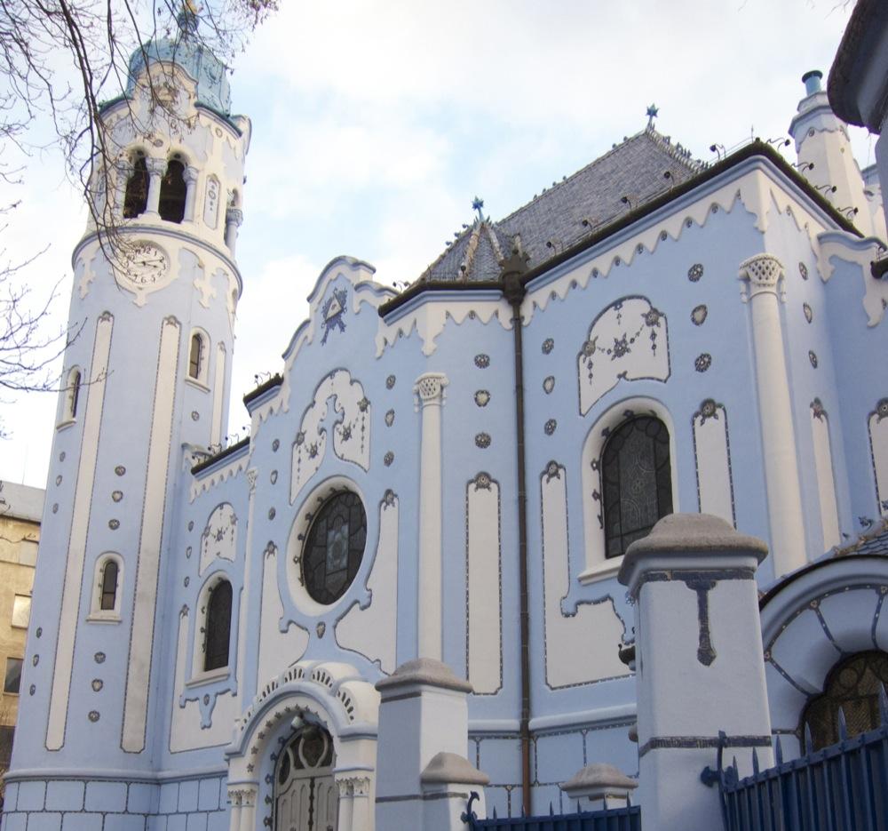 "St. Elizabeth's Church (aka ""The Blue Church"") in Bratislava, Slovakia."