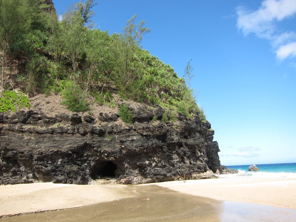 The secluded Hanakapiai Beach