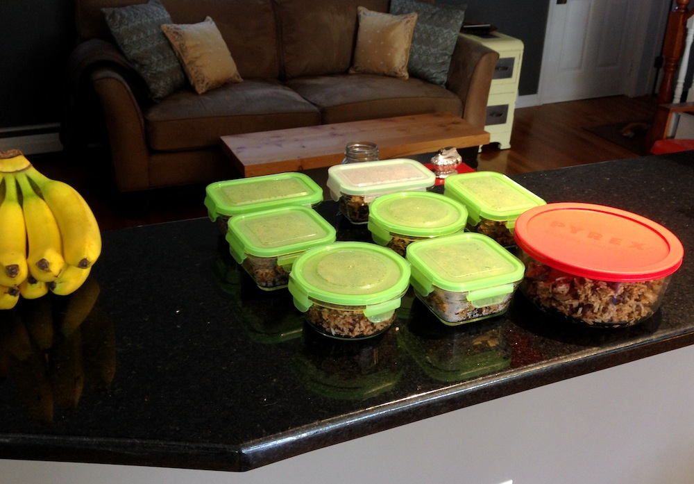 Frugalwoods lunches all lined up for the week