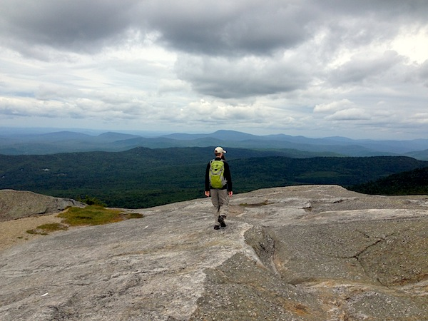Mr. FW at the summit of Mt. Cardigan, which we hiked in August