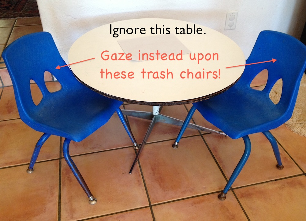 Kiddy chairs!