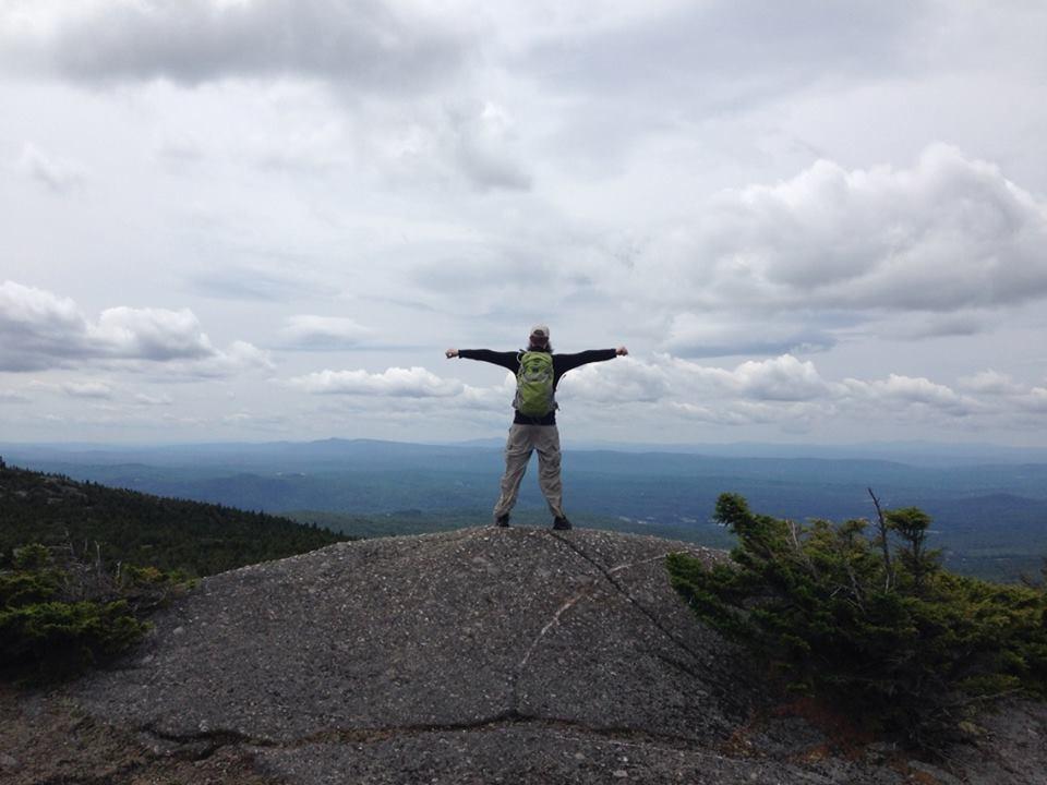 Mr. FW on the Mt. Firescrew summit