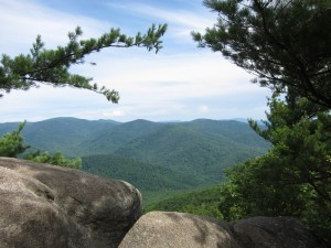 Old Rag view mid-way up