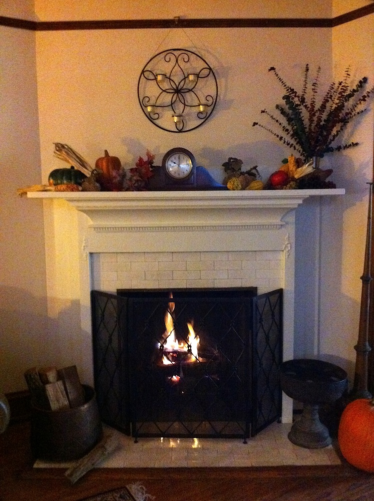 Our DC fireplace... ahhh