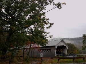A covered bridge from a previous trip to Vermont