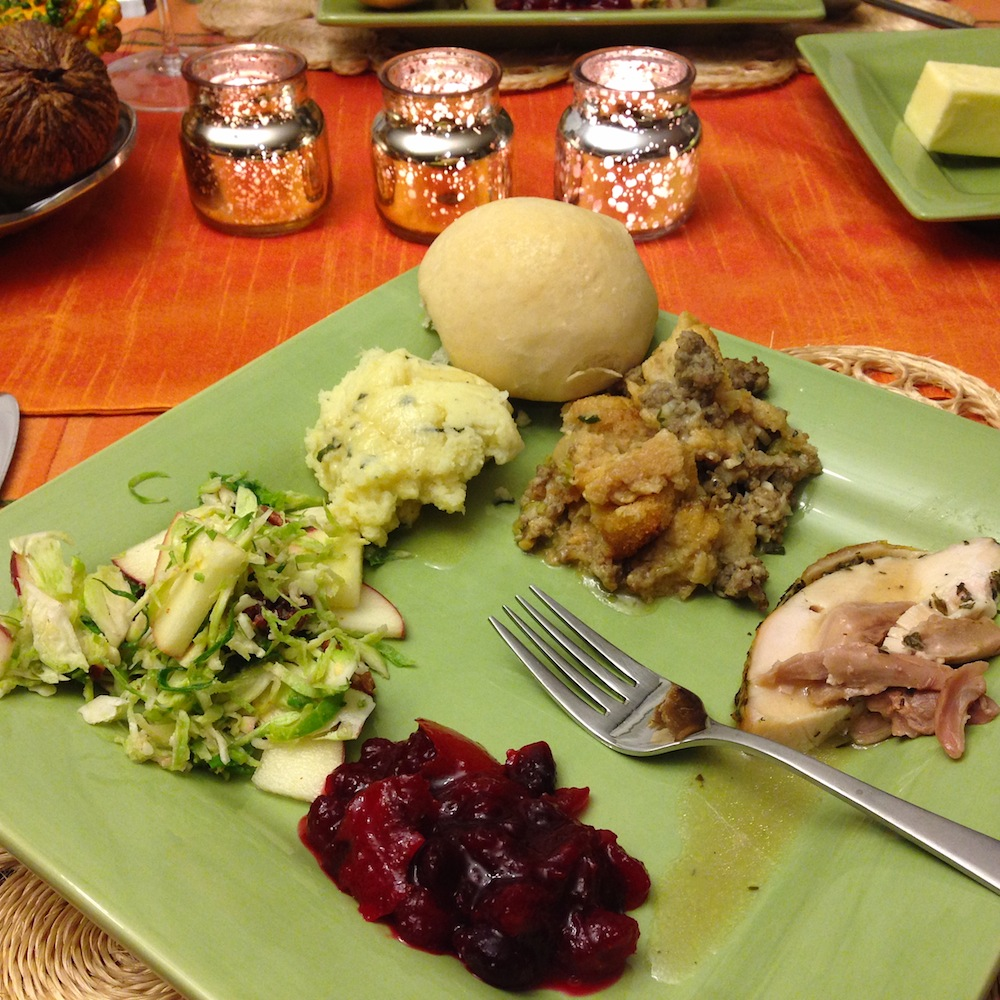 My plate last Thanksgiving. Epic yums.