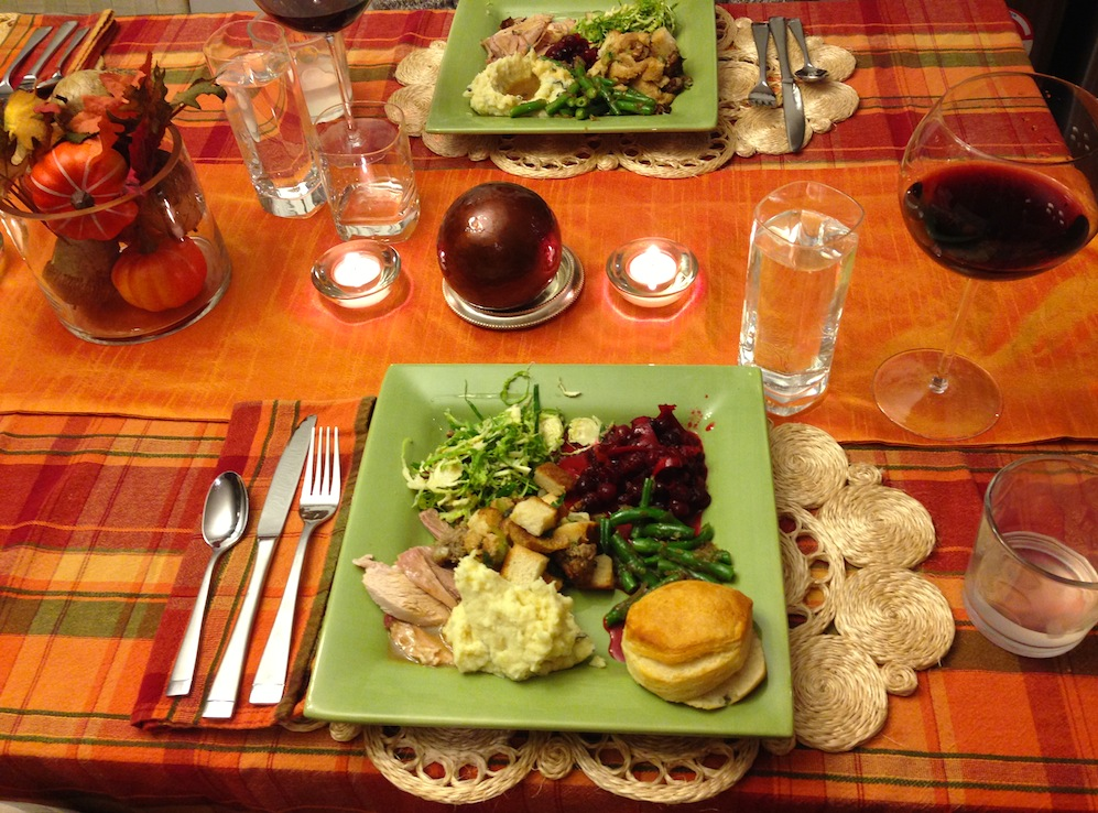 Our Thanksgiving feast a few years ago