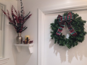 Even the main floor bathroom got in on the festive