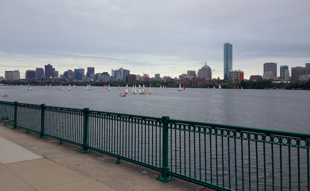 Our view of Boston on a walk