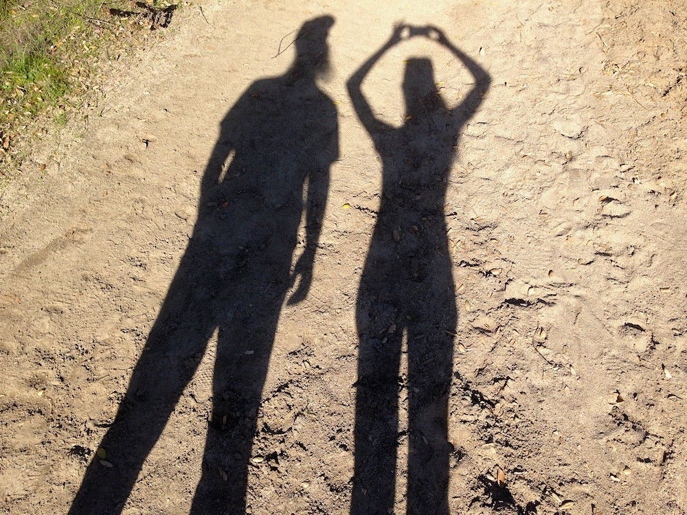 We're pretty happy together, just making shadows