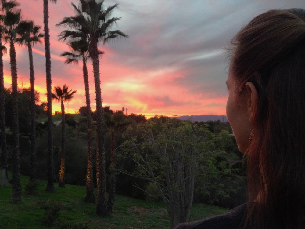 Me checking out the sunset at my parents' house