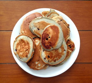 Randomly, here's another photo of Mr. FW's pancakes!