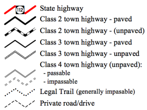 The different classifications of roads in Vermont