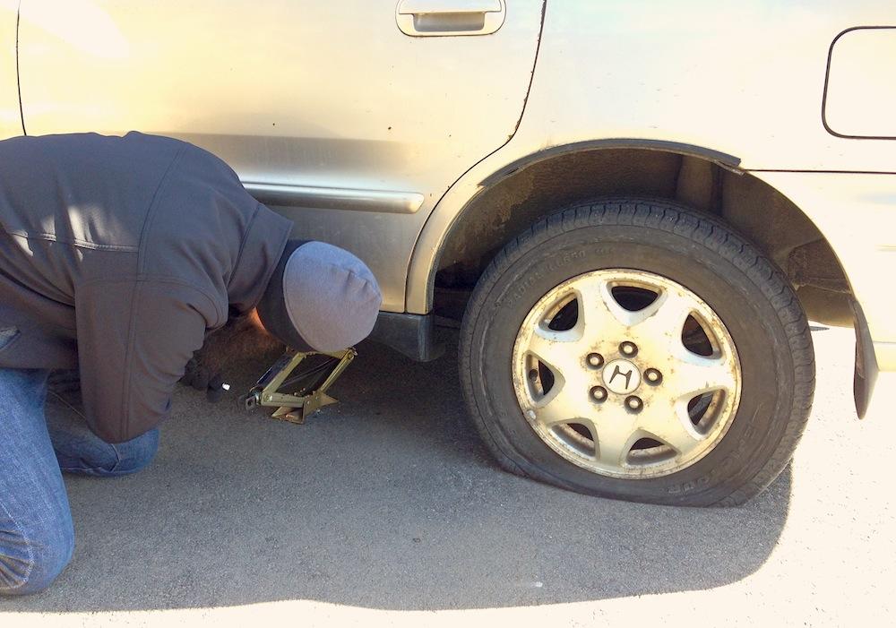 Changing ye olde tyre