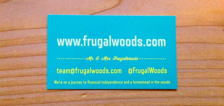 Ok, ok, the name has grown on me and I even got us business cards!