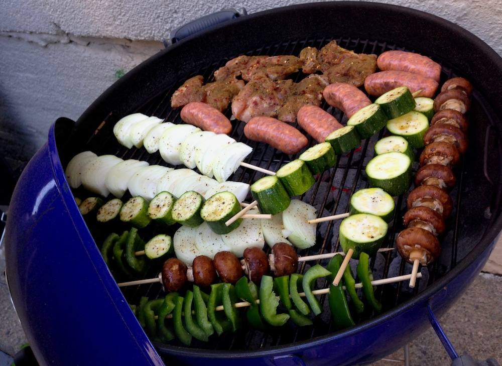 Our grill loaded up!