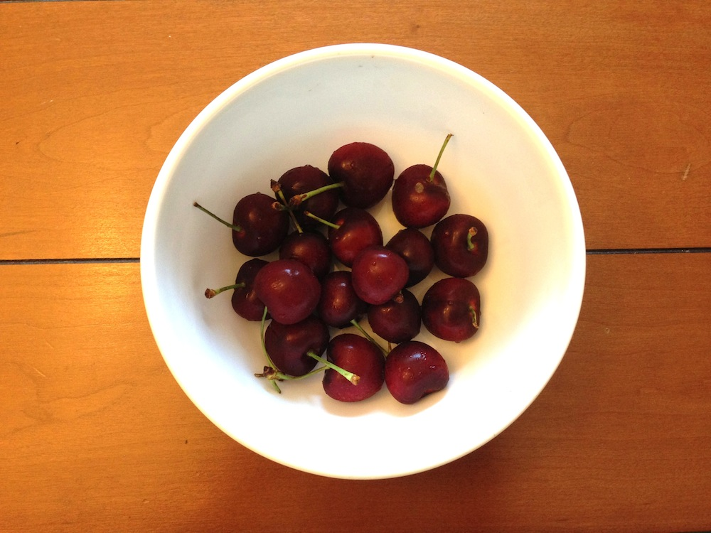 A recent splurge of mine: cherries!
