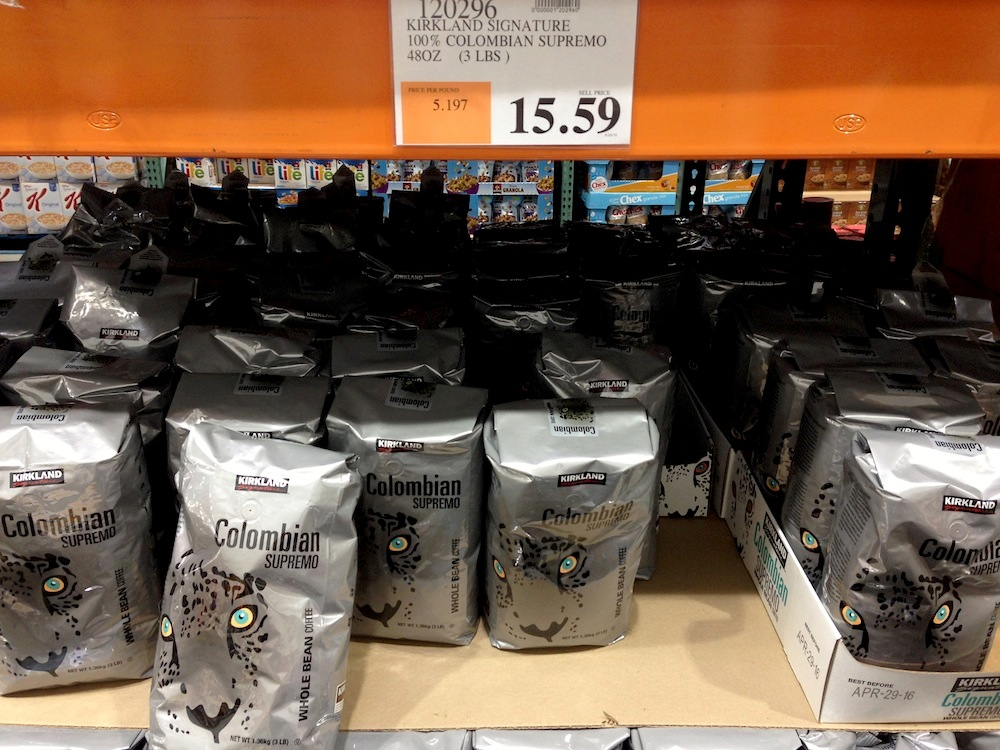 The Costco coffee in question