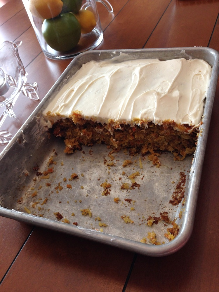 The carrot cake I baked for July 4th with my friend C's awesome recipe!