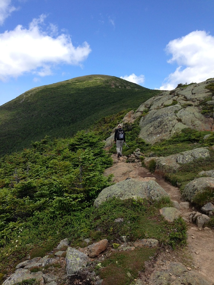 Mr. FW on the final ascent to Mt. Eisenhower.