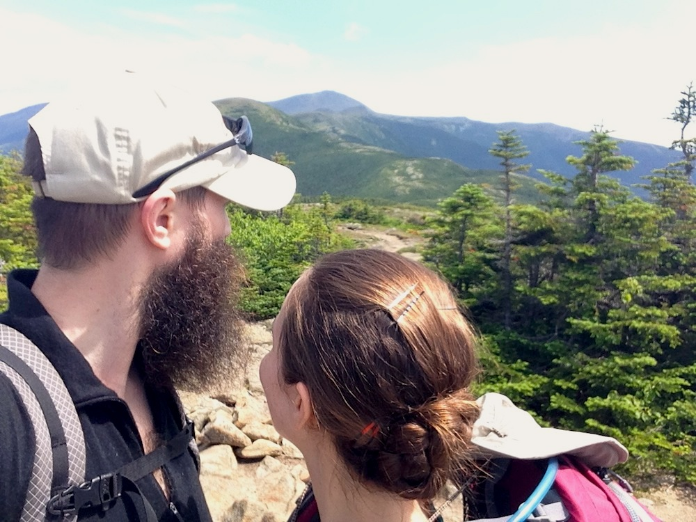 Mr. and Mrs. Frugalwoods on a weekend hike