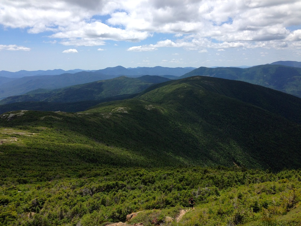 View from Mt. Eisenhower of the ridge walk we hiked
